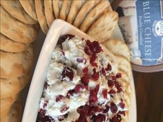 Holiday Cranberry Dip with Blue Cheese | thiswifecooks.com
