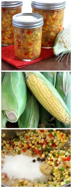 Homemade Sweet Corn Relish. #relish #corn #recipes daringgourmet.com