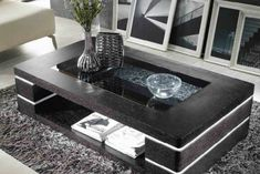 42 The Best Modern Coffee Table Design To Get A Luxurious Accent - Home Design Centre Table Living Room, Center Table, Black Coffee Tables, Modern Coffee Tables, Living Room Sofa Design, Living Room Modern, Decorating Coffee Tables, Coffee Table Design, Centre Table Design