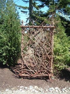 I REALLY love this gate by Betsy Rockwell at Moosehead Rustic Art