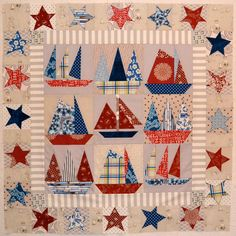 Sailboats quilt in progress | by AdrianneNZ