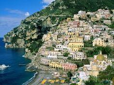 Amalfi coast road.