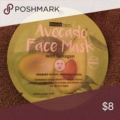 Avocado paper face mask with collagen Beauty Treats paper mask contains unique blend of avocado extract, collagen and vitamin E to nourish and refresh your skin. beauty treats Other Clear Skin Face, Clear Skin Diet, Avocado Hair, Avocado Face Mask, Paper Face Mask, Brown Spots On Skin, Beauty Treats, Acne Skin, Skin Care Tips