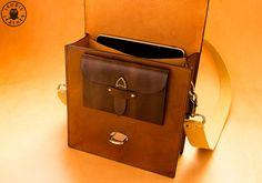 Leather Messenger Bag Antique Brown