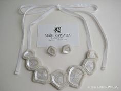 Collier&Boucles d'oreilles percées  http://www.marikawada.com/creation/ http://www.marikawada.com/online-shop/