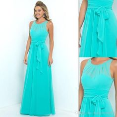 Turquoise Bridesmaids Dresses 2016 Chiffon Sheer A Line Long Brides Maid Gowns For Women Bridal Party Cheap Price Cheap Bridesmaid Dresses Under 50 Cheap Bridesmaids Dresses From Magicdress2011, $72.82| Dhgate.Com