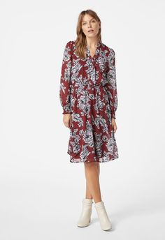 722e2116b2f8 Tie Detail Dress. Shoe Dazzle. Tie Detail Dress in cabernet multi - Get  great deals at JustFab