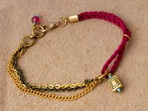 "Bettelarmband /Armkettchen ""wildberry"""