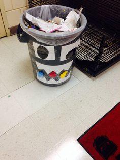mr. Trash monster likes to eat trash so feed him