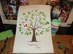 Photo of the Week: Thumbprint Tree Guestbook - Wedding Snap's Real Weddings Blog