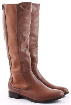 ba25e75e7d9 Ladies flat rider biker style faux leather wide calf high leg knee boots  stretch