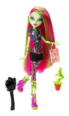 Amazon.com: Monster High Doll Venus McFlytrap Daughter of the Plant Monster: Toys & Games