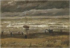 Vincent van Gogh: View of the Sea at Scheveningen. Painting - Oil on Canvas. Scheveningen: August, 1882. Location unknown: stolen from Van Gogh Museum 2002.