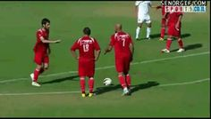 This wonderful free kick.