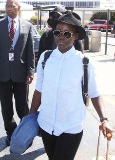 Lupita Nyong'o is spotted at Ronald Reagan Washington National Airport in DC.