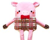 Pig Sewing Pattern Fabric Doll Softie Easy Sewing Pattern PDF
