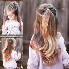 Easy 5 minute hairstyles for busy school mornings. - The Right Hair Styles Pretty Hairstyles, Braided Hairstyles, Hairstyle Ideas, Hair Ideas, Natural Hairstyles, Short Hairstyles, Hairstyles 2016, Kids Hairstyle, Princess Hairstyles