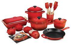 Le Creuset Cherry Red 20-piece Cookware Set – KITCHEN APPLIANCES