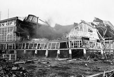 12 November 1966: The last remaining building of the Steeplechase Amusement Park at Coney Island is demolished