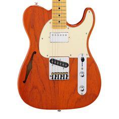 G&L Tribute ASAT Classic Bluesboy Semi-Hollow Electric Guitar - Clear Orange