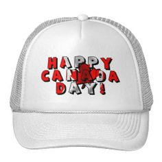 9e9d585abd9 Happy Canada Day Flag Text Trucker Hat