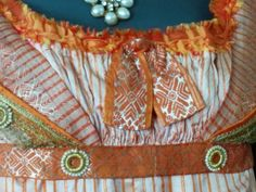 Haags Gemeentemuseum. Close-up bodice of CB's ball dress.