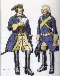 Officer and soldier at Smålands regiment of horse by Einar von Strokirch