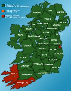 Birth Death Marriage Genealogy Records Ireland - Irish Family History Foundation {Ship passenger lists, hits for James Rogers) Genealogy Sites, Genealogy Research, Family Genealogy, Genealogy Humor, Genealogy Chart, Ancestry Websites, Family Roots, All Family, Family Trees