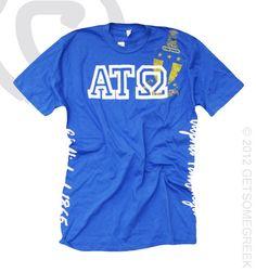 Aiden Blue Alpha Tau Omega Shirt!