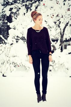 All Black Winter Wear.