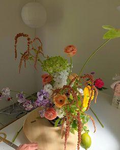 "FORMA on Instagram: ""🐛 peach & lime"" Garden Wedding, Dream Wedding, Table Arrangements, Event Planning, Floral Design, Lime, Peach, Colours, Bright"
