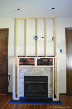 Terrific Snap Shots Fireplace Remodel shiplap Ideas DIY Budget Fireplace Surround Makeover: From the Boring Brown Before to a Light, Bright & White Aft Craftsman Fireplace, Fireplace Update, Brick Fireplace Makeover, Shiplap Fireplace, Old Fireplace, Concrete Fireplace, Rustic Fireplaces, Farmhouse Fireplace, Fireplace Remodel