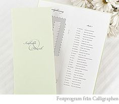 Innehåll i festprogram till bröllopet - BröllopsGuiden