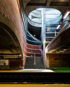 Montreal metro station photo by Chris Forsyth Underground Tube, Underground Cities, Abandoned Buildings, Abandoned Places, Nostalgic Pictures, U Bahn, Vintage Poster, Of Montreal, Constructivism
