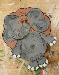 "Kindergarten - Turkey in Disguise ideas - Elephant Turkey...could even add an ""A"" or a ""Roll Tide"" to him."