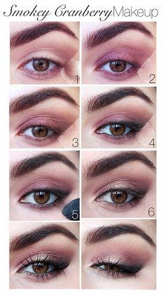 Smoky Cranberry Makeup //prettysquared.com