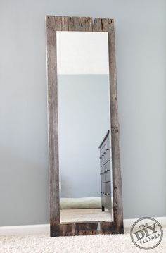 Reclaimed barnwood Mirror--My future home will be done in all rustic decor! In love!