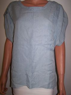 WAVERLY GREY Size Large Blue Blouse Top  #WAVERLYGREY #Blouse #Casual
