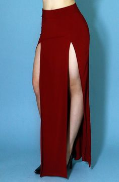 Double Slit Maxi Skirt (  Colors)