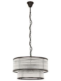 Corbelle 6 4 Light Pendant in Antique Black