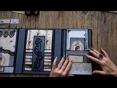 The several compartments held into one is cute Album Photo Scrapbooking, Mini Scrapbook Albums, Tutorial Scrapbook, Mini Album Scrap, Papel Scrapbook, Handmade Scrapbook, Mini Photo Albums, Mini Album Tutorial, Album Book