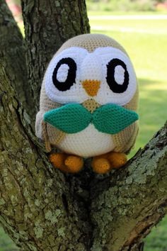 Rowlet Crochet Pattern by PlushAndStuffDesigns on Etsy