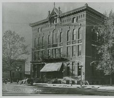 1883 Wright Hotel located at the corner of State and Superior in downtown Alma :: Archival photographs