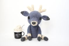 This shy but curious deer is patiently waiting for a new best friend!  He is a tall buck – measuring 14 tall with a 6 wide head.  $88 #babygift #babyshowergift #nurseryideas #babyshower #nursery #neutralnursery #deer #forestnursery