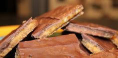 chocolate toffee crackers. SO easy and SO good!! Making these today!