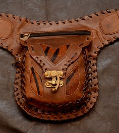 brown-zebra-handmade-leather-belt-bag