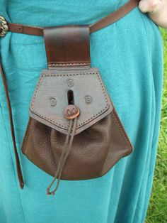 Leather pouch. This is Ren style, but could be modified into Steampunk