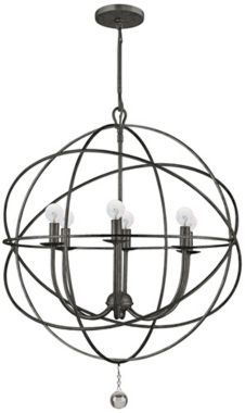 Buy the Crystorama Lighting Group English Bronze Direct. Shop for the Crystorama Lighting Group English Bronze Solaris 6 Light Wide Cage Chandelier with Clear Glass Drops and save. Industrial Chandelier, Silver Chandelier, Globe Chandelier, Contemporary Chandelier, Transitional Chandeliers, Transitional Lighting, Industrial Lighting, Industrial Design, Plywood Furniture
