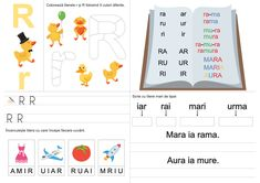 fișa literei R Preschool Writing, Diy And Crafts, Map, French, Traditional, Dress, Dresses, French People, Location Map