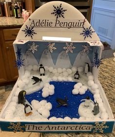 Adelie penguins diorama for my first grader